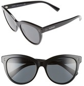 Valentino Women's 54Mm Cat Eye Sunglasses - Black