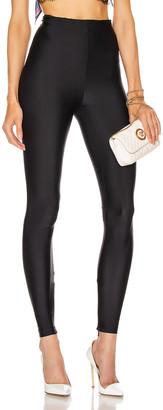 Versace Shiny Leggings in Black | FWRD