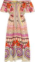Temperley London Dream Catcher Printed Hammered Silk-satin Dress - UK12