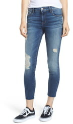 KUT from the Kloth STS Blue Ripped Cutoff Crop Jeggings
