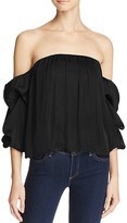 Bardot Caught Sleeve Off-The-Shoulder Top