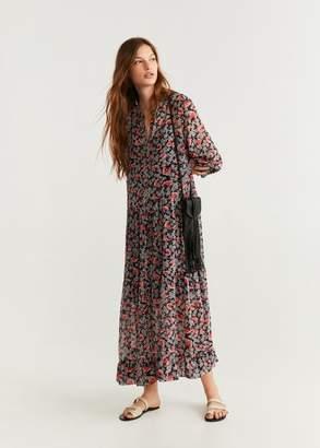 MANGO Floral print dress black - 2 - Women