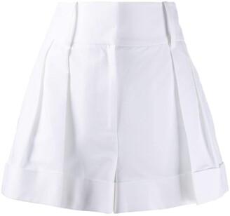 Valentino High-Waisted Darted Shorts