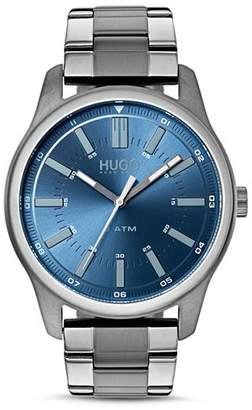 HUGO #RISE Blue Dial Watch, 44mm