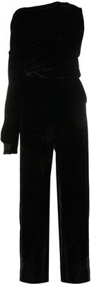 MM6 MAISON MARGIELA One-Shoulder Velvet Jumpsuit