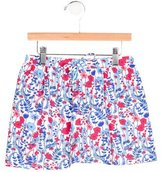 Oscar de la Renta Girls' Floral Print Swim Skirt w/ Tags