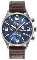 Timberland Rutherford Multifunction Leather Strap Watch, 45mm