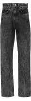 Ganni Acid-Wash Mid-Rise Straight-Leg Jeans