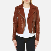 Belstaff Women's MarvingT 2.0 Lambskin Leather Jacket - Umber Brown