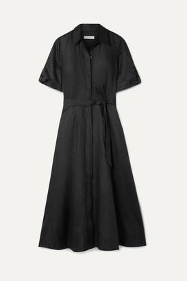 Equipment Irenne Belted Linen Dress - Black