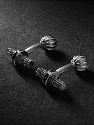 Tom Ford 18-Karat White Gold Diamond Cufflinks - Men - Silver
