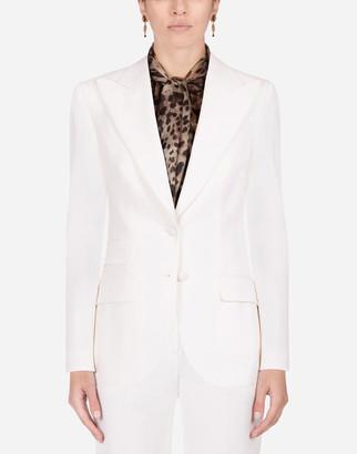 Dolce & Gabbana Woolen Fabric Single-Breasted Jacket