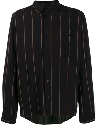 Ami Paris Striped Chest Pocket Shirt