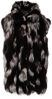 Michael Kors Leopard Intarsia Fur Vest