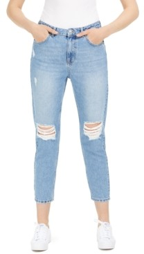 Only Ripped Cropped Straight-Leg Jeans