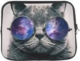 "Nicole's Laptop Sleeve Beautiful Design Hipster Space Galaxy Nebula Glitter Star Glasses Cat Fits Laptop 13"" or 13.3"" Laptop Bag,Laptop Cover,Laptop Bag Macbook, Macbook Air(Twin Sides)"