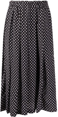 Comme des Garçons Comme des Garçons Polka-Dot Pleated Skirt