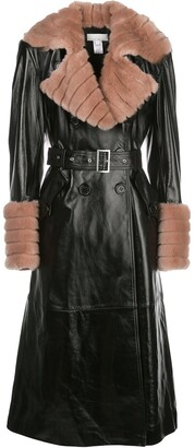 Fleur Du Mal Two-Tone Combined Trench Coat