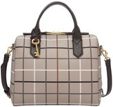 Fossil Fiona Plaid Satchel