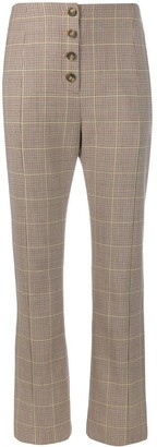 Jonathan Simkhai Flare Tweed Suit Trousers