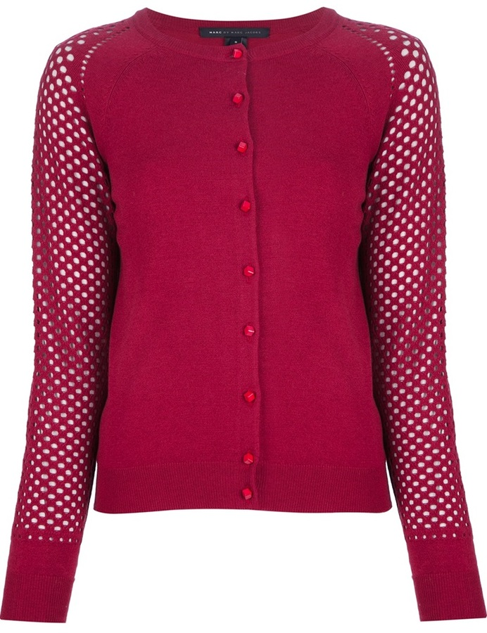 Marc by Marc Jacobs perforated sleeve cardigan