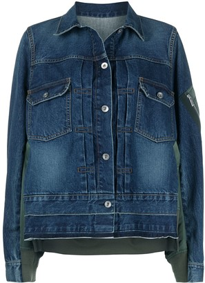 Sacai Contrast Panel Denim Jacket
