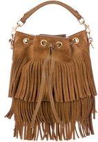 Saint Laurent Emmanuelle Fringed Bucket Bag