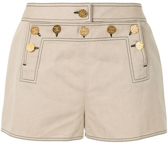 Chanel Pre Owned Mid-Rise Sailor Mini Shorts