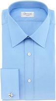 Charvet BLUE POPELINE SOLID FC SHRT