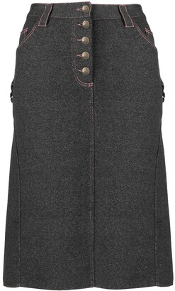Christian Dior 2000 Pre-Owned Denim Effect Straight Skirt