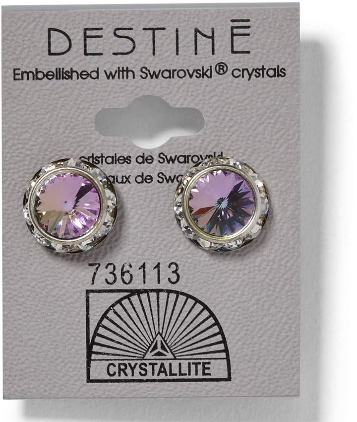 Crystallite Destine Rhinestone Rivoli Earrings