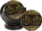 THIRSTYSTONE COLLECTION Thirstystone Fleur De Lis Set of 4 Coasters