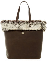 Australia Luxe Collective Barwell Faux Fur Trim Leather Tote