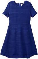 Milly Minis Textured Stitch Fit & Flare Dress (Big Girls)