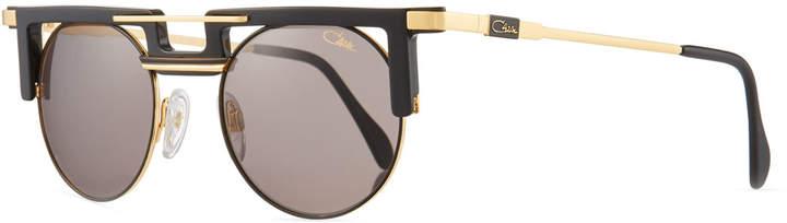Cazal Men's Round Acetate/Metal Sunglasses