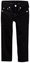 True Religion Straight Leg Black Core Jean (Toddler & Little Boys)