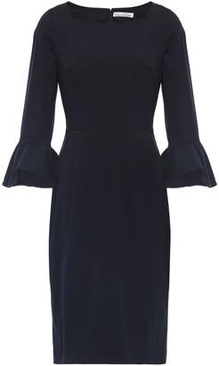 Oscar de la Renta Fluted Cotton-blend Poplin Dress