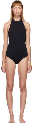 Bottega Veneta Black Quilted One-Piece Swimsuit
