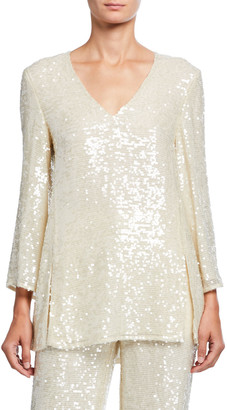 Sally LaPointe Sequined Jersey Tunic