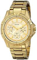 GUESS Women's U0235L5 Dynamic Feminine Mid-Size Multi Function Gold-Tone Sport Watch