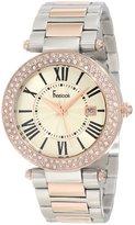 Freelook Women's HA1538RGM-2 Silver-Rose Gold Swarovski Bezel Watch