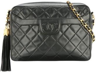 Chanel Pre Owned Quilted Fringe CC Single Chain Shoulder Bag