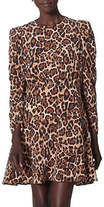 Joie Celyn Silk Leopard-Print Dress