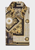 Versace Signature 17 Print Silk Shirt