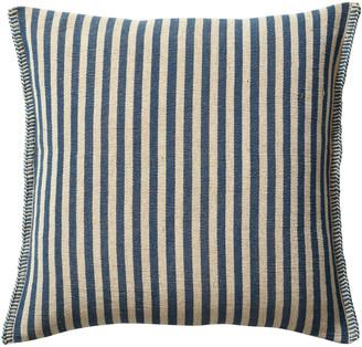 OKA Roku Thin Stripe Cushion Cover - Indigo