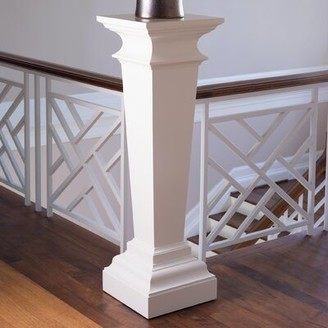 Global Views Williamsburg Square Pedestal Plant Stand Color: Ivory
