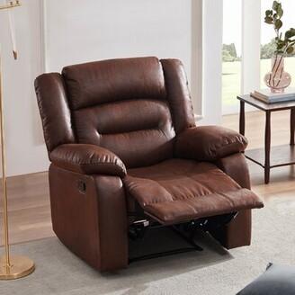 Winston Porter Adiva Heated Massage Recliner Sofa Ergonomic Lounge With 8 Vibration Points