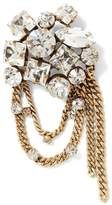 Banana Republic Clear Stone and Chain Brooch