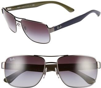 Ray-Ban 58mm Steel Aviator Sunglasses