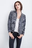 Sunni Leopard Fleece Bomber Jacket